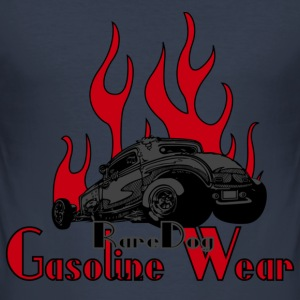 2 Window Hotrod with Flames T-shirts - Herre Slim Fit T-Shirt