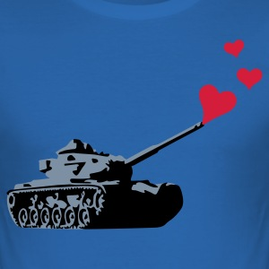 Royalblau lovetank_3c T-Shirts - Männer Slim Fit T-Shirt