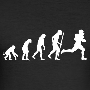 Zwart Evolution of American football T-shirts - slim fit T-shirt