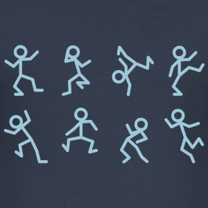 Dancing stick figure T-Shirts - Men's Slim Fit T-Shirt