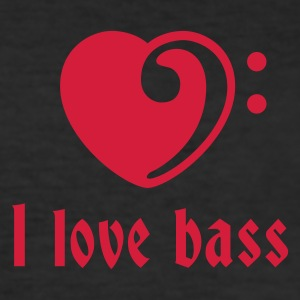 love_bass_1c T-Shirts - Men's Slim Fit T-Shirt