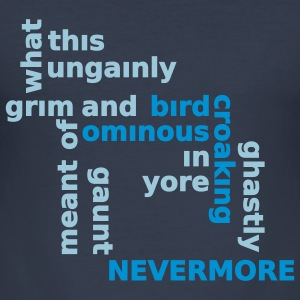 Typo Shirt - Poe: The Raven T-skjorter - Slim Fit T-skjorte for menn