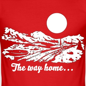 The way home... - Männer Slim Fit T-Shirt