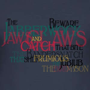 Typo Shirt - Carrol: Jabberwocky T-shirts - slim fit T-shirt