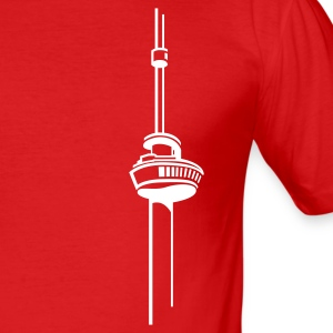 Wijnrood euromast T-shirts - slim fit T-shirt