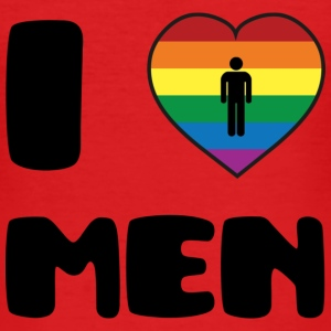 I Love Men :) T-shirts - Herre Slim Fit T-Shirt