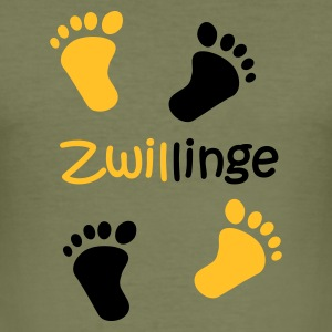 Zwillinge - Männer Slim Fit T-Shirt