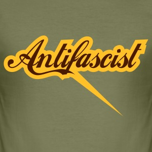 0043 Antifascist Shirt Antifaschist - Männer Slim Fit T-Shirt