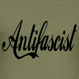 0044 Antifascist Shirt Antifaschist - Männer Slim Fit T-Shirt