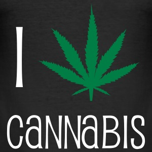 cannabis drugs hasjiesj alcohol marihuana reggae T-shirts - slim fit T-shirt
