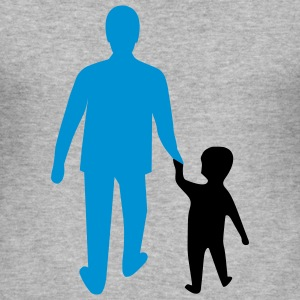 missing father and son T-shirts - Slim Fit T-shirt herr