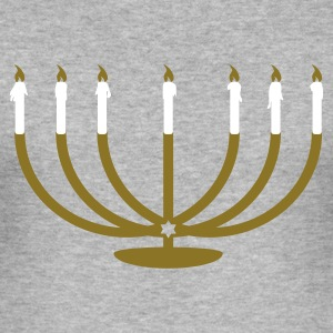 Heather grey Menorah High Men's T-Shirts - Men's Slim Fit T-Shirt