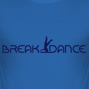 Royalblau Breakdance T-Shirts - Männer Slim Fit T-Shirt
