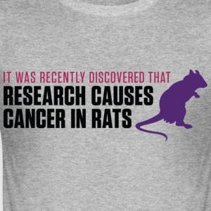 Research Causes Cancer 2 (dd)++ T-skjorter - Slim Fit T-skjorte for menn