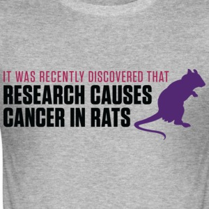 Research Causes Cancer 2 (dd)++ T-Shirts - Men's Slim Fit T-Shirt