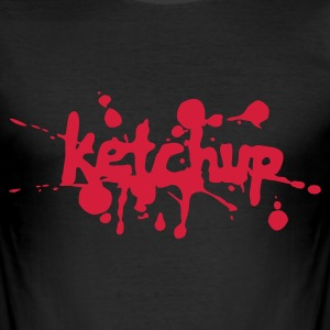Sort Ketchup T-shirts - Herre Slim Fit T-Shirt