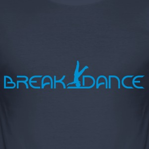 Dark navy Breakdance T-Shirts - Männer Slim Fit T-Shirt