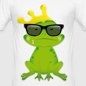 Nerd Frog - Männer Slim Fit T-Shirt