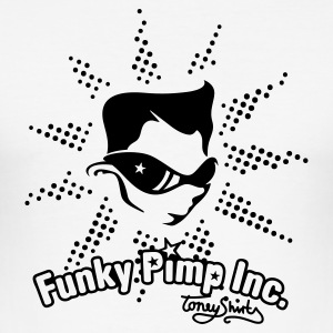 Weiß THE FUNKY PIMP INC. by toneyshirts T-Shirts - Männer Slim Fit T-Shirt