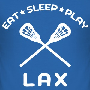 'Eat Sleep Play LAX' Men's Slim Fit T-Shirt - Men's Slim Fit T-Shirt