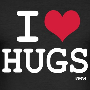 Schwarz i love hugs by wam T-Shirts - Männer Slim Fit T-Shirt