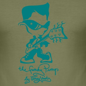 Khaki green THE FUNKY PIMP Pt.2 by toneyshirts (1c) T-Shirts - Männer Slim Fit T-Shirt