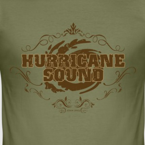 Hurricane Sound Logo Shirt Men camel slim fit - Männer Slim Fit T-Shirt