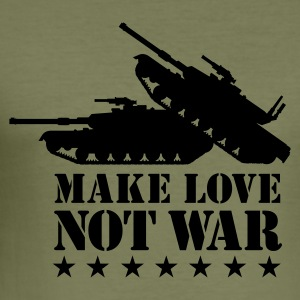 Make love not war T-Shirts - Männer Slim Fit T-Shirt