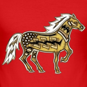 Indian Horse | Männershirt slim fit - Männer Slim Fit T-Shirt