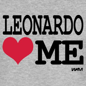 Grau meliert leonardo loves me T-Shirts - Männer Slim Fit T-Shirt