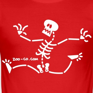 Skeleton Running Away T-Shirts - Men's Slim Fit T-Shirt