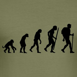 Evolution des backpacker T-Shirts - Männer Slim Fit T-Shirt