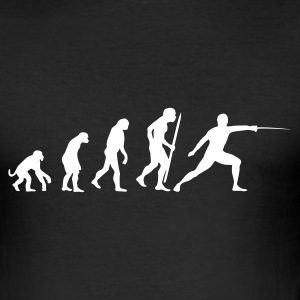 Evolution Fechten T-Shirts - Männer Slim Fit T-Shirt