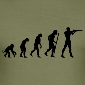 Evolution Schießen T-Shirts - Männer Slim Fit T-Shirt
