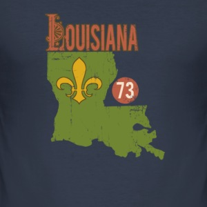 louisianavintage T-Shirts - Men's Slim Fit T-Shirt