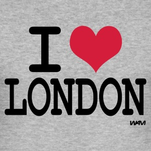 Gråmelerad i love london  by wam T-shirts - Slim Fit T-shirt herr