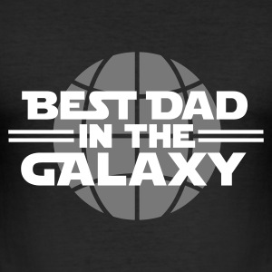 Best dad in the galaxy T-Shirts - Männer Slim Fit T-Shirt