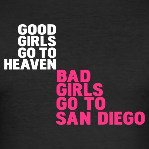Noir bad girls go to san diego T-shirts - Tee shirt près du corps Homme