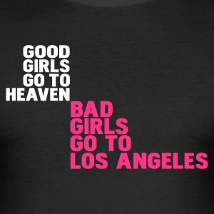 Noir bad girls go to los angeles T-shirts - Tee shirt près du corps Homme