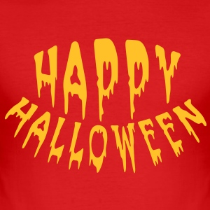 Happy Halloween (1c) Tee shirts - Tee shirt près du corps Homme