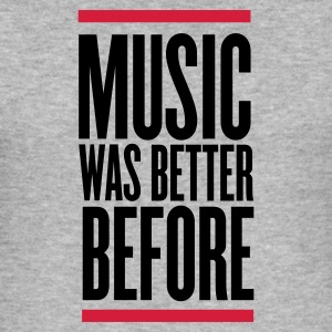 Grigio melange music was better before T-shirt - Maglietta aderente da uomo