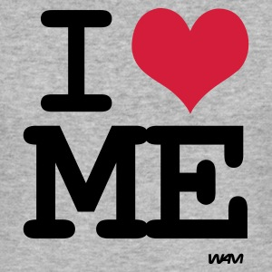 Gråmelert i love me  by wam T-skjorter - Slim Fit T-skjorte for menn