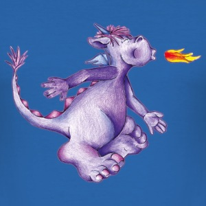 little purple firedragon T-shirts - Slim Fit T-shirt herr