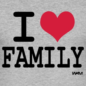 Gråmelert i love family T-skjorter - Slim Fit T-skjorte for menn