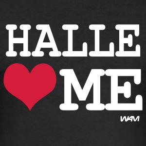 Svart halle loves me by wam T-skjorter - Slim Fit T-skjorte for menn