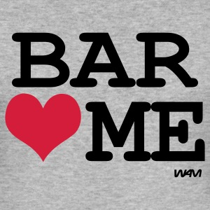 Gråmelert bar loves me by wam T-skjorter - Slim Fit T-skjorte for menn