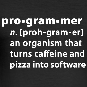 Programmer dictionary definition T-Shirts - Men's Slim Fit T-Shirt