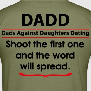 DADD - Dads Against Daughters Dating (back) T-shirts - Herre Slim Fit T-Shirt