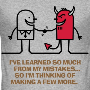 Learned From Mistakes 1 (dd)++ T-shirts - Herre Slim Fit T-Shirt