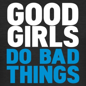 Nero good girls do bad things T-shirt - Maglietta aderente da uomo